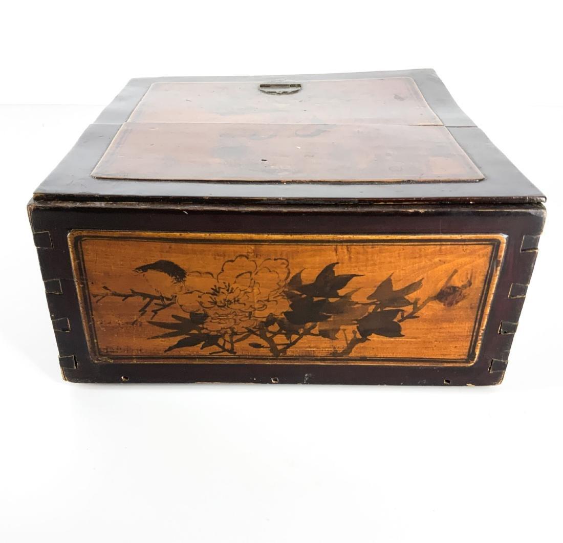 Antique 19th Century Asian Lap Desk Box - 3