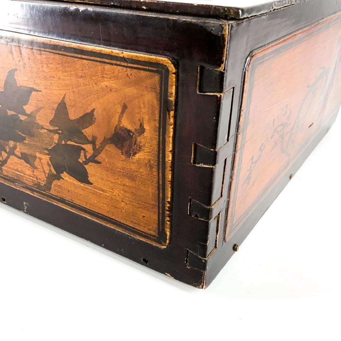 Antique 19th Century Asian Lap Desk Box - 4