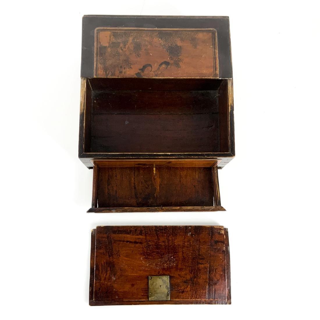 Antique 19th Century Asian Lap Desk Box - 5