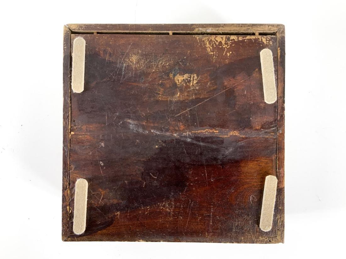 Antique 19th Century Asian Lap Desk Box - 7