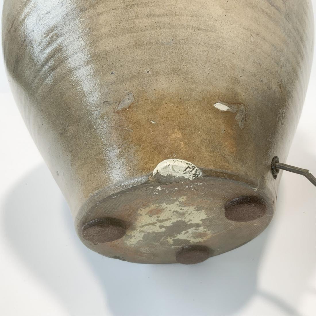 Antique 2 Gallon Clarke Lyon Stoneware Lamp c1830 - 10