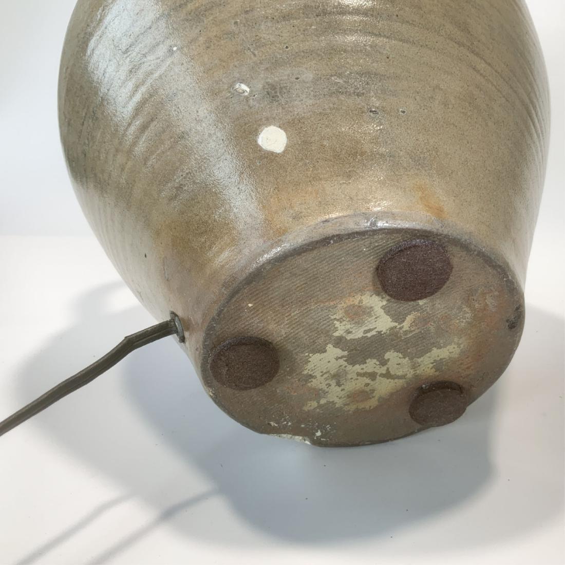Antique 2 Gallon Clarke Lyon Stoneware Lamp c1830 - 9