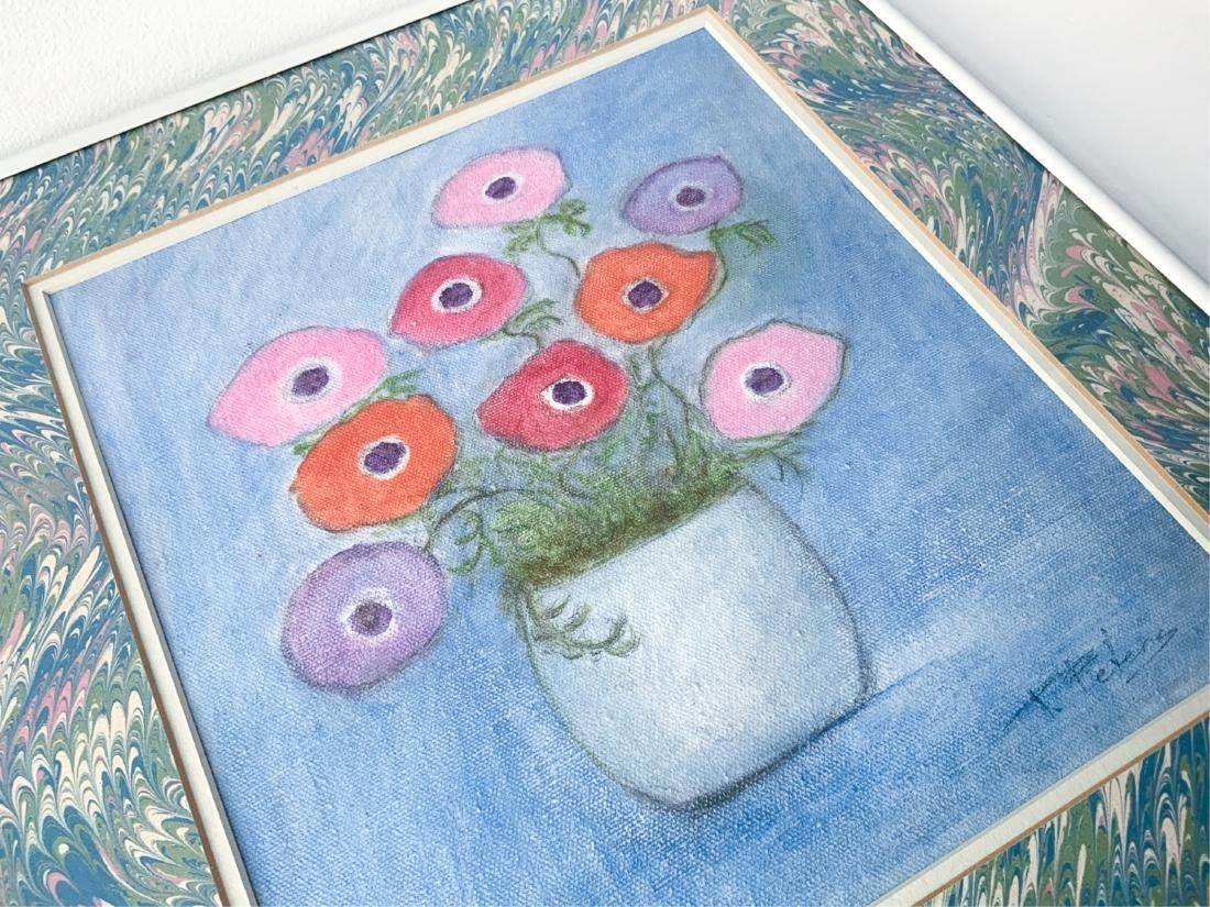 Original Signed Framed Floral Oil Painting 1978 - 4