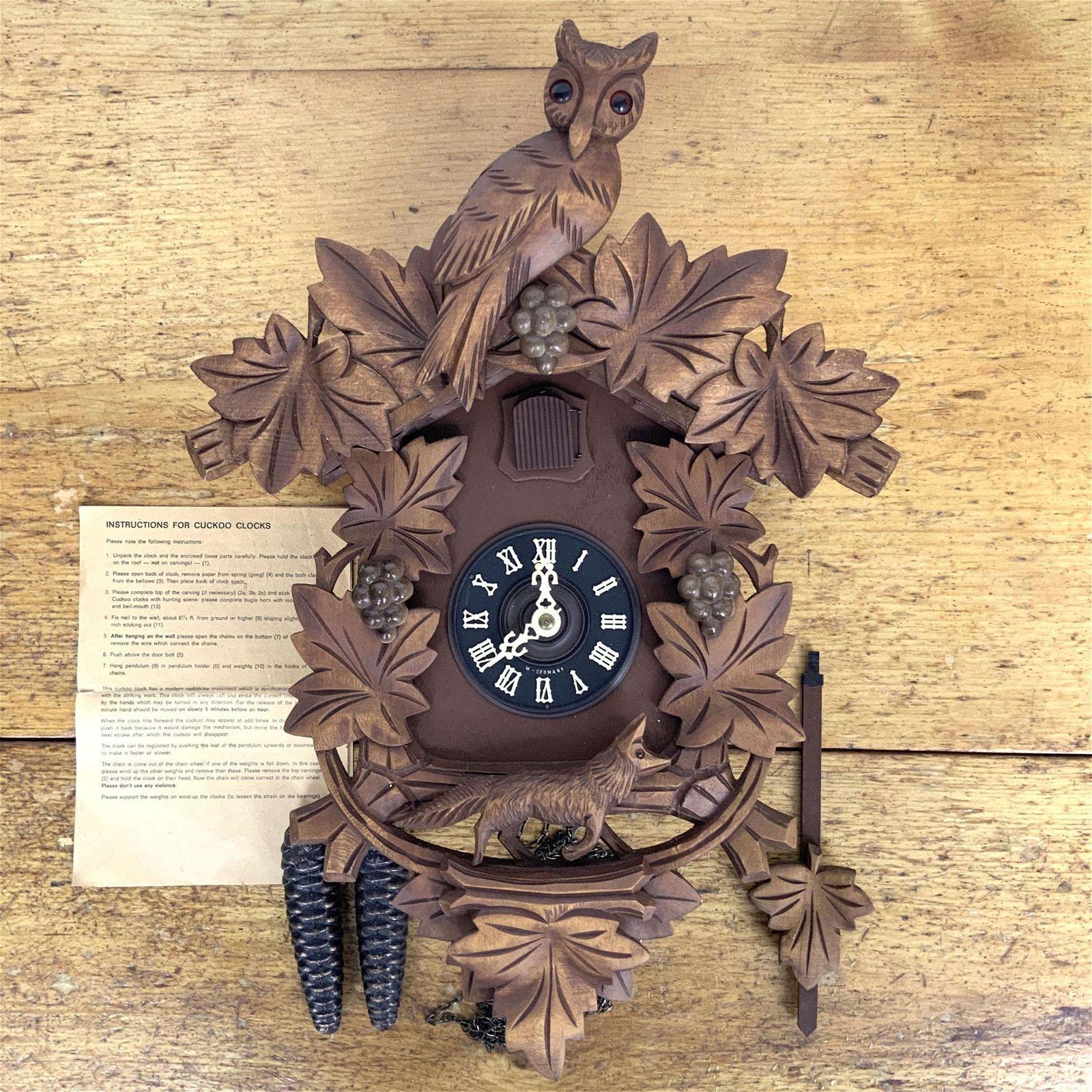 Vintage German Forest Coo Koo Clock West German