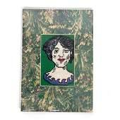 David Bell Folk Art Needlepoint - Elizabeth Taylor