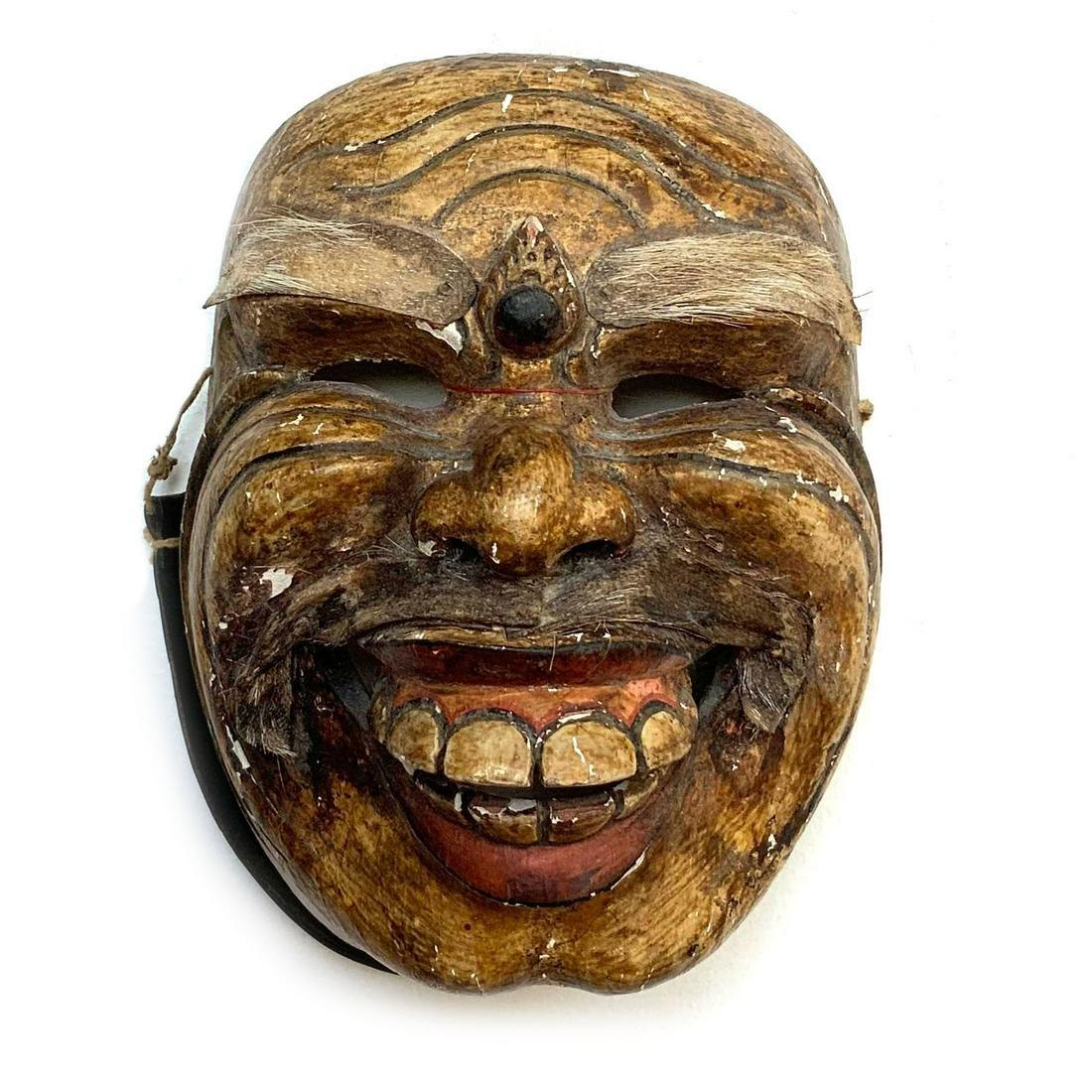 Vintage Old Wood Hand Carved Bali Dance Mask