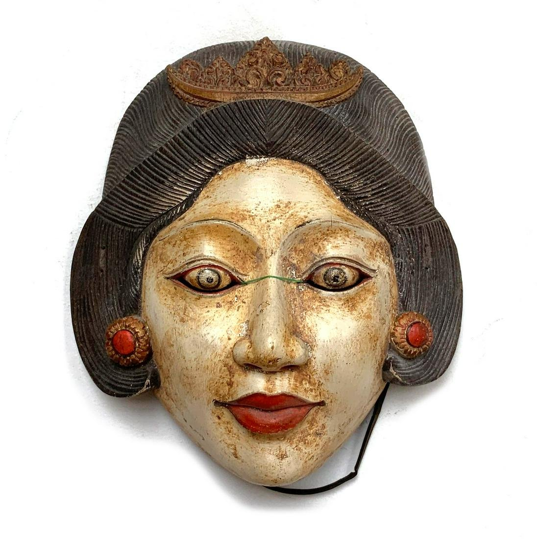 Vintage Balinese Female Figure Dance Mask