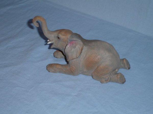 11: Aynsley English bone china baby bull elephant
