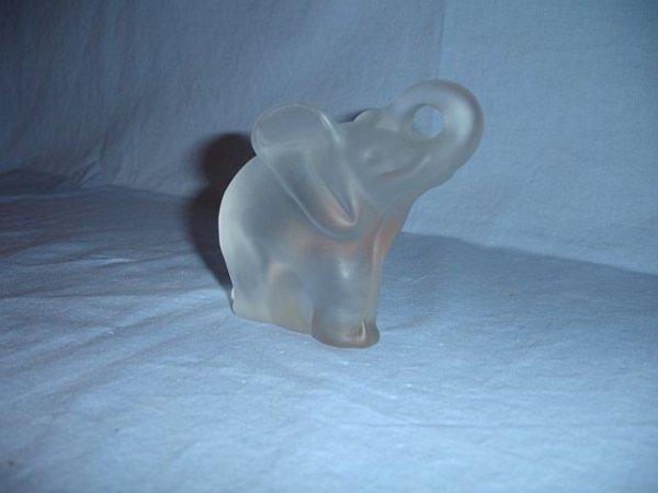 12: Gense Swedish frosted crystal elephant