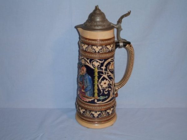 13: Stein with outdoor drinking scene, Germany