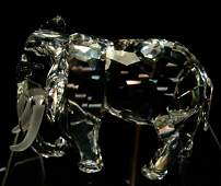53: Swarovski Collector Society Crystal Elephant, 1993