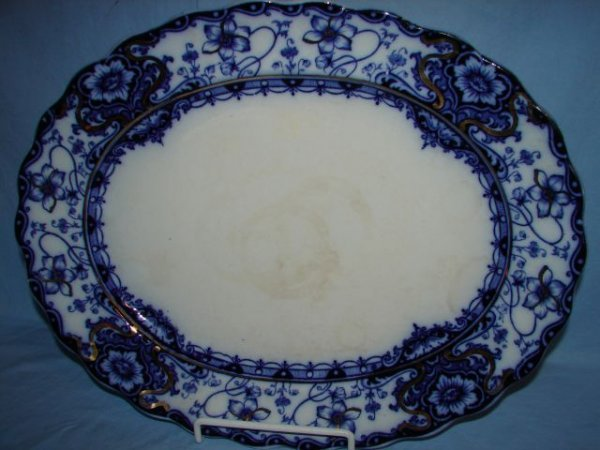 12: Flow blue platter, Welbeck