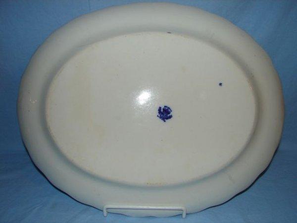 12: Flow blue platter, Welbeck - 2
