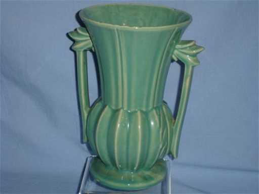 43 Green Mccoy Vase