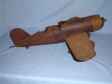 11: Vintage Toy Metal Airplane