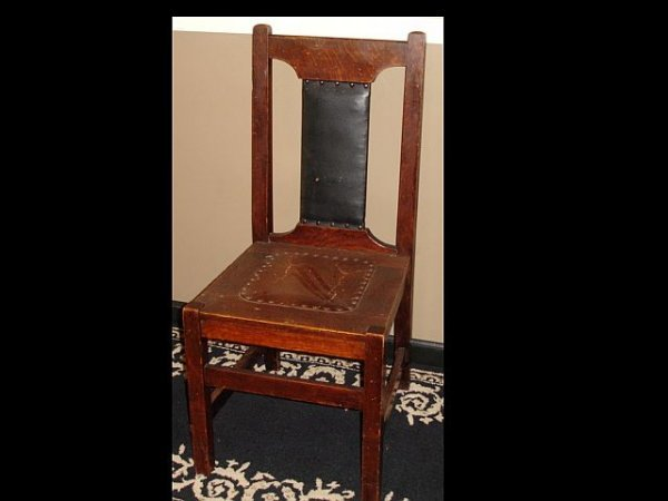 16: Arts & Craft Mission-Style Side Chair