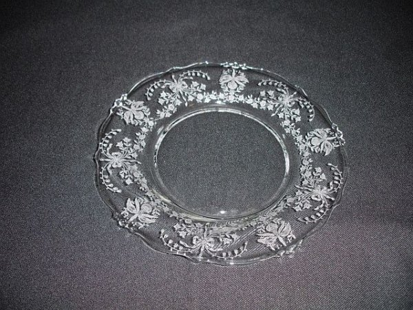 17: Eight Heisey Orchid Salad Plates