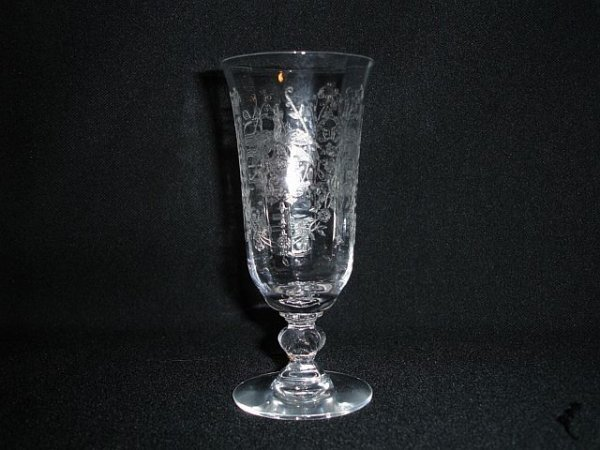 21: Eight Heisey Orchid Juice Glasses