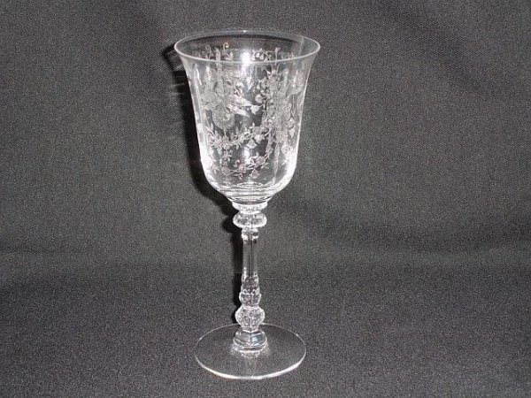 22: Eight Heisey Orchid Water Goblet