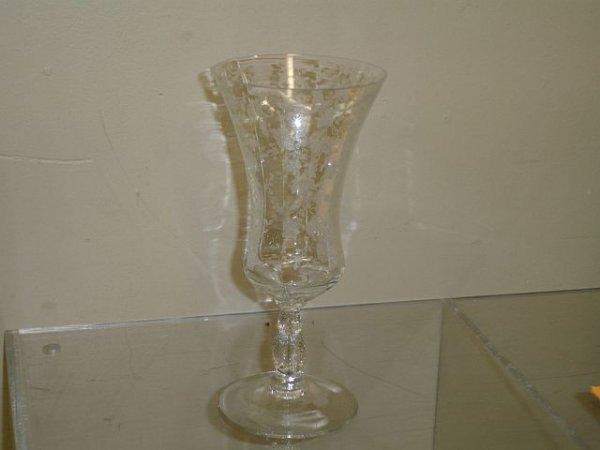 18: 8 Cambridge Chantilly #3625  Iced Tea Goblets