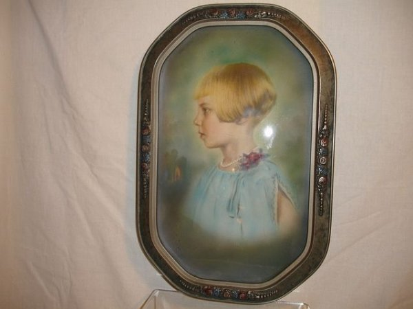 24: Wood/Gesso Frame with Convex Bubble Glass