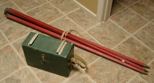 98: Vintage Survey Equipment with Box and Tripod - 2