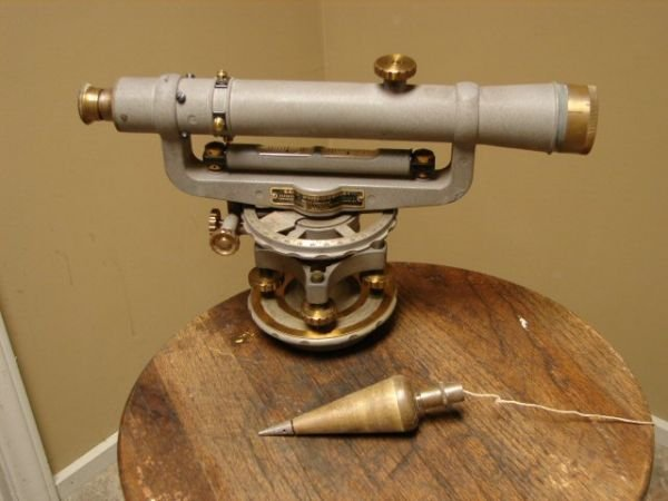 98: Vintage Survey Equipment with Box and Tripod - 3