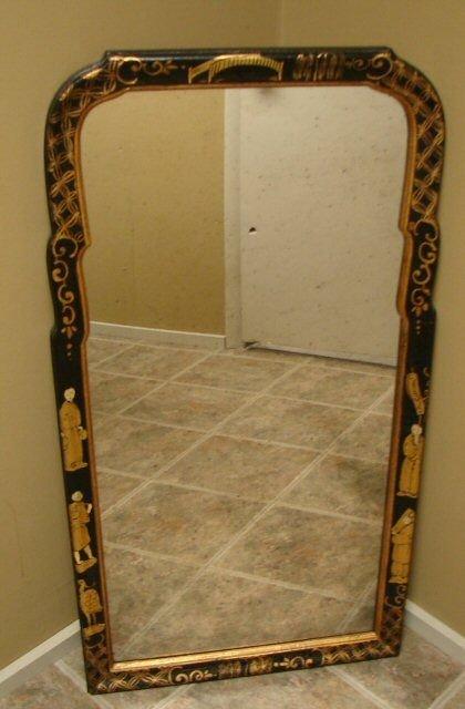 107: LaBarge Chinoiserie Oriental Mirror