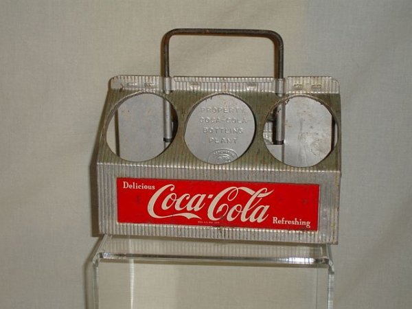 117: 1952 Coca Cola 6 Bottle Aluminum Coke Carrier