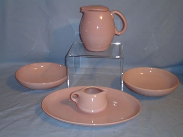 133: 5 Pieces of Russel Wright Iroquois Pink Sherbert