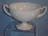 137: Westmoreland Diamond Point Pedestal Bowl