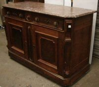 147: Antique Marble Top Buffet