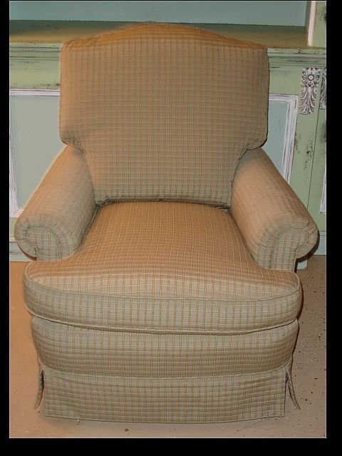 179: Upholstered club chair by Jessica Charles