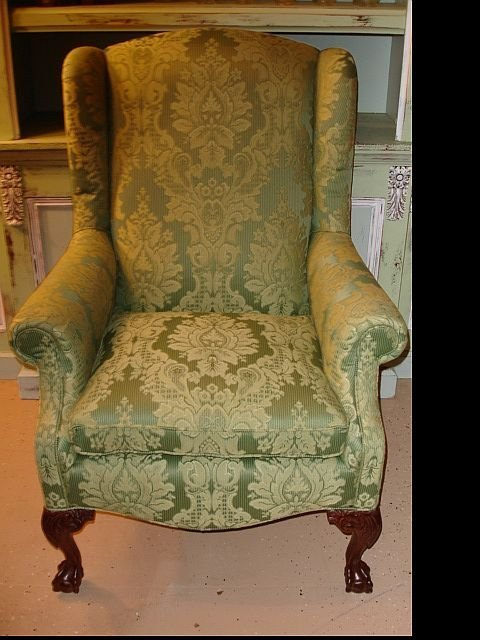 182: Wing Back Chair with Claw Feet by Lexington Furnit