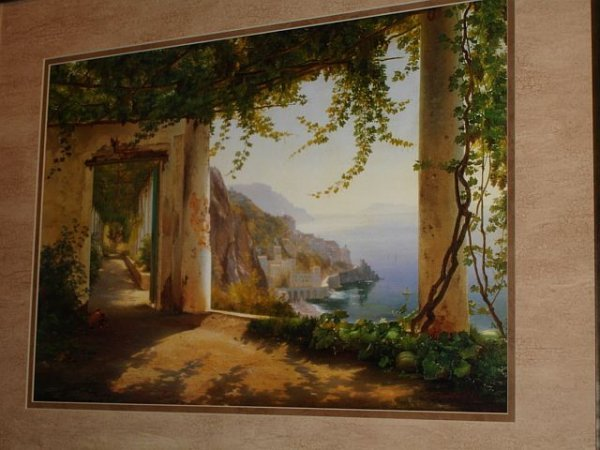 188: Framed Print, Overlooking the Bay