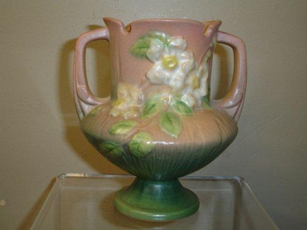 220: Roseville White Rose 146-6 Vase