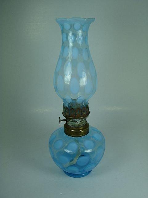 5: Blue dot hurricane oil lamp