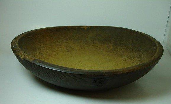 15: Antique wood dough bowl