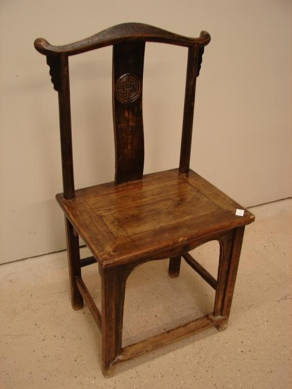 16: Oriental chair with stretcher base