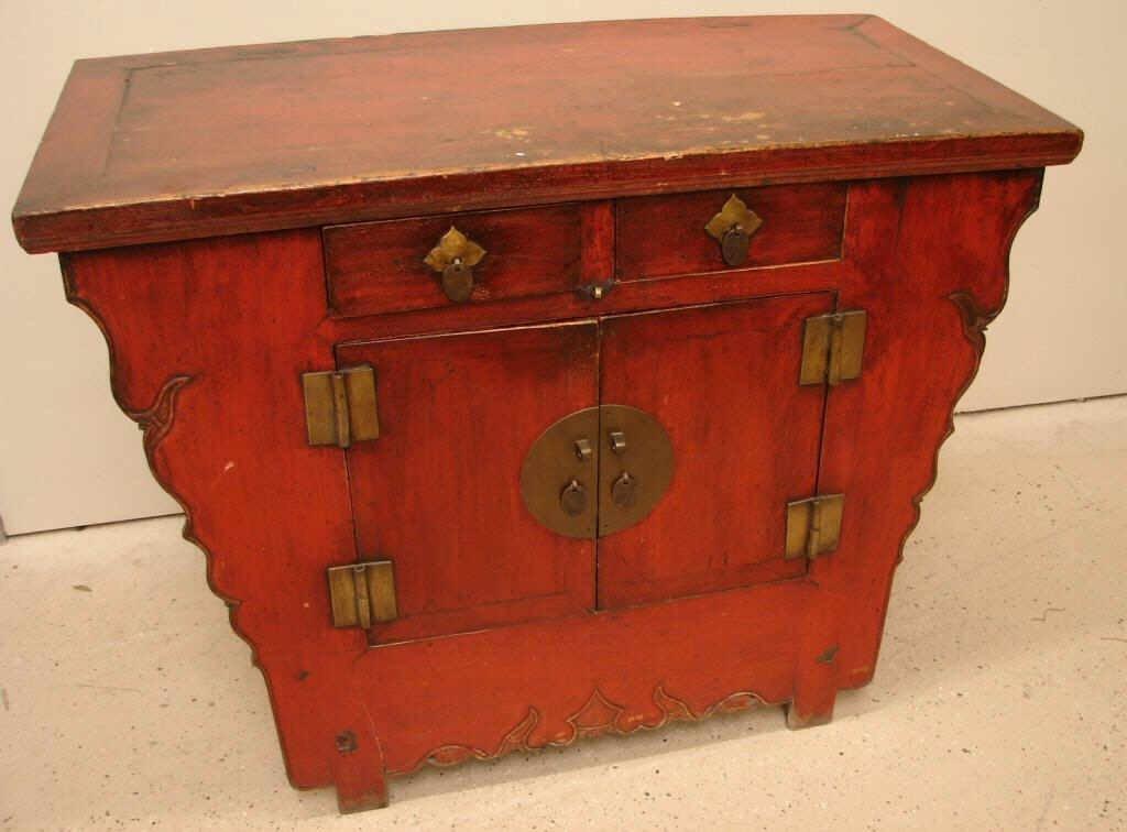 67: Antique Oriental altar cabinet