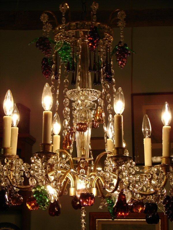 40: Murano Italian Glass Fruit Chandelier