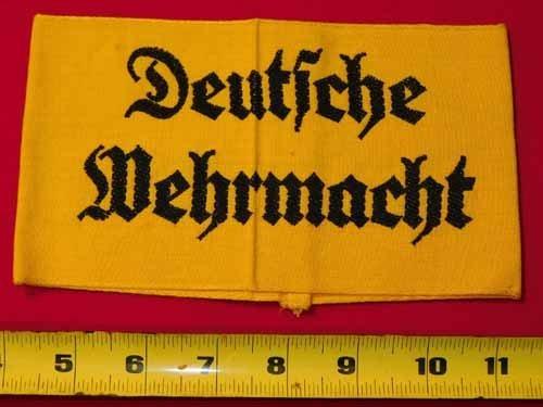 """Nazi armband - """"Deutsche Wehrmacht"""""""