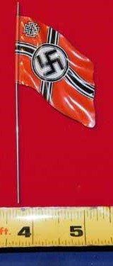 Nazi tin flag - red with swastika