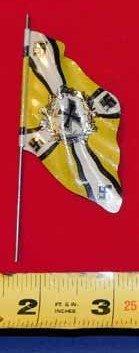 Nazi tin flag - yellow with iron cross