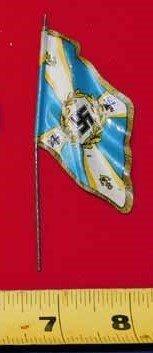 Nazi tin flag - Blue with swastika