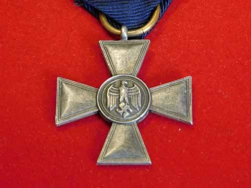 Nazi Service medal - Silver Cross with blue ribbon