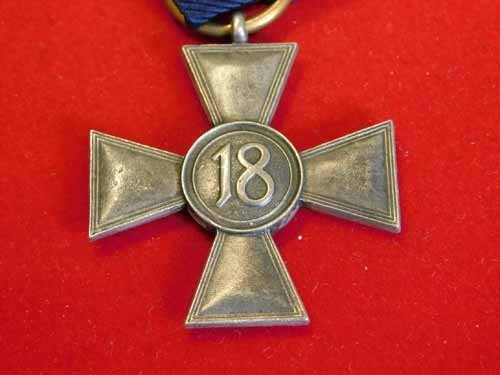 Nazi Service medal - Silver Cross with blue ribbon - 2