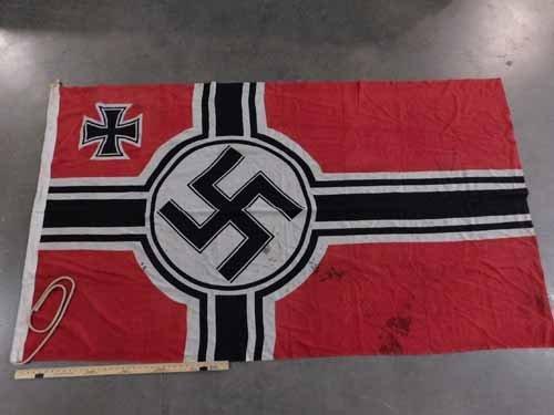 Nazi Battle Flag with Swastika