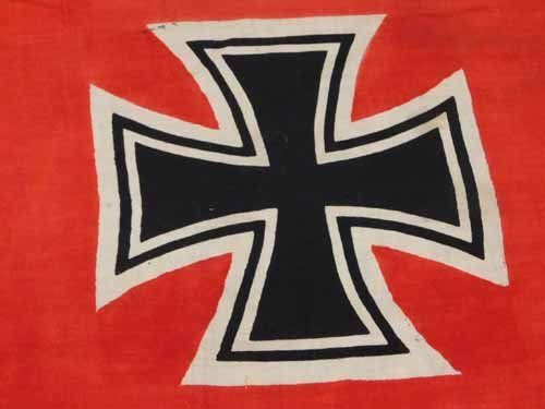 Nazi Battle Flag with Swastika - 3