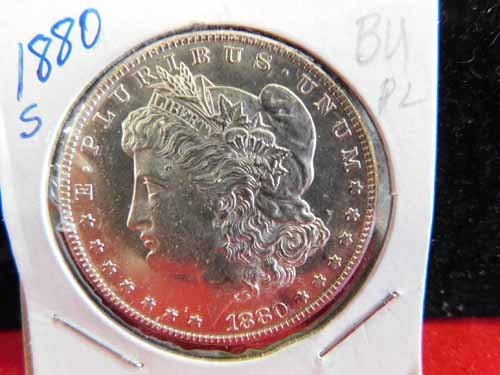 1880-S Morgan Silver Dollar BU Proof like